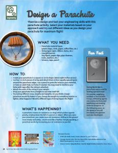 STEAM activity 5: Design a Parachute (Engineering)